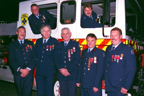 Current Gold Star members of the Stokes Valley Volunteer Fire Brigade